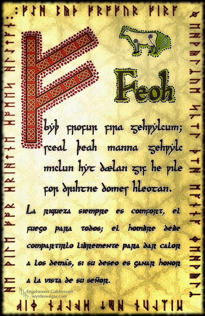 Runa FEOH, Feoh, Fehu