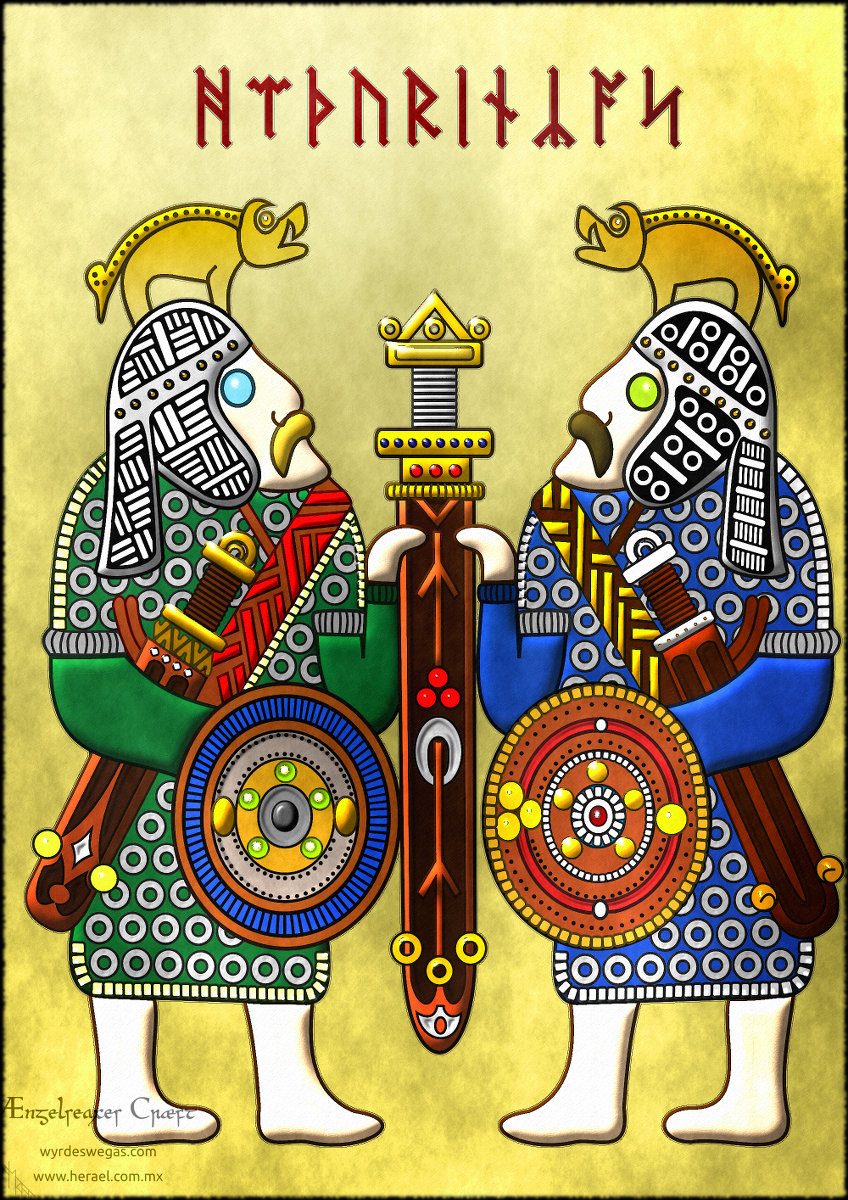 Heaþurincas Anglo-saxon warrios Guerreros anglosajones