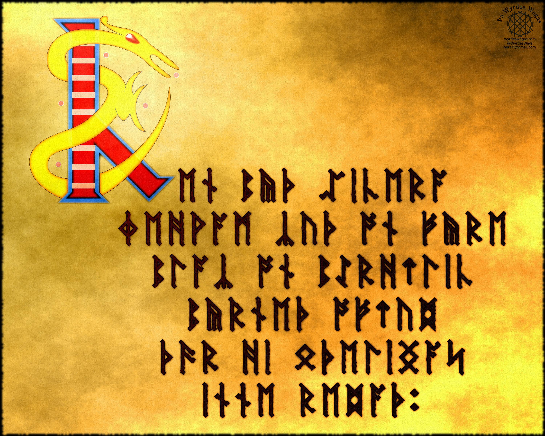 Anglo-Saxon Fuþorc-Cen