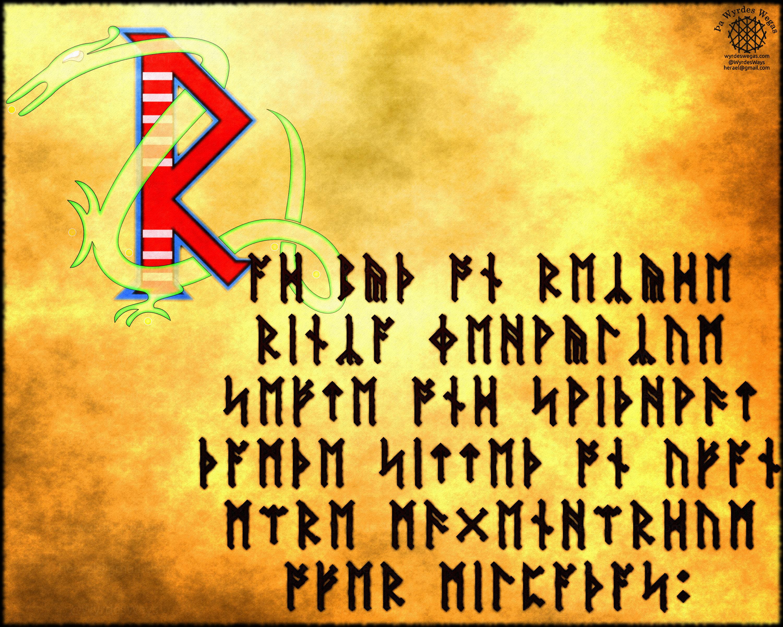 Anglo-Saxon Fuþorc-Rad